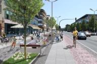 Ludwigsfelde: Stadtzentrum Potsdamer Straße: Aufwertungs-/Bebauungsstudie (Bildmontage)