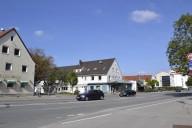 Haunstetten_die alte B17 verläuft von Nord nach Süd durch Haunstetten und lärmbelastet den Stadtteil sehr