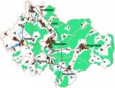 Zweckverband und Region Mittleres Fuldatal: Regionales Entwicklungskonzept: Übersicht der sieben beteiligten Kommunen