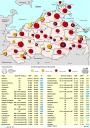 Mecklenburg-Vorpommern: Übersicht zur Bevölkerungsentwicklung der ISEK-Städte von 2005