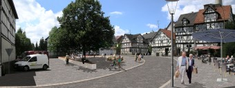 Felsberg: Umgestaltung des östlichen Ortseingangs »Salzmanns Ecke« zum neuen zentralen Platz – Felsberg