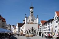 Kempten: Rathaus mit Marktplatz