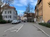 Konstanz: Blick vom Grenzübergang in die Kreuzlinger Straße
