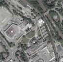 Hof: Laeplan mit Planungsgebiet (1) und unmittelbarem Umfeld: Freiheitshalle (2), Theater (3), Hotel Central (4)