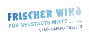 Neustadt b. Coburg: Logo »Frischer Wind für Neustadts Mitte, Stadtumbau 2012/13«