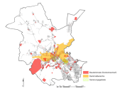 Verteilung der städtischen Baudenkmale