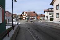 Scheidegg: Bestandsfoto der Querungsmöglichkeit für Fußgänger im Bereich Alte Salzstraße