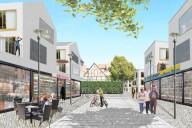 Celle: Perspektive Platzansicht im Inneren des neuen Ensembles